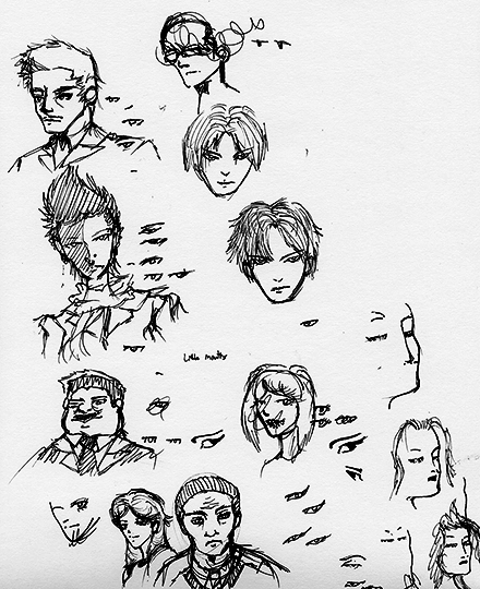 Character Art Sketches For Girl With Dragon Tattoo