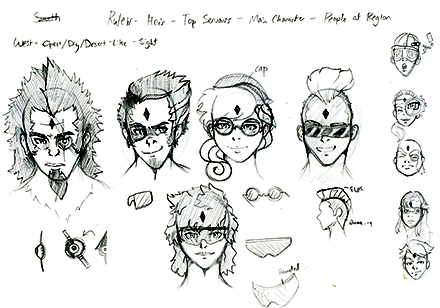 Gunnarr  Game Concept Character Sketch Four