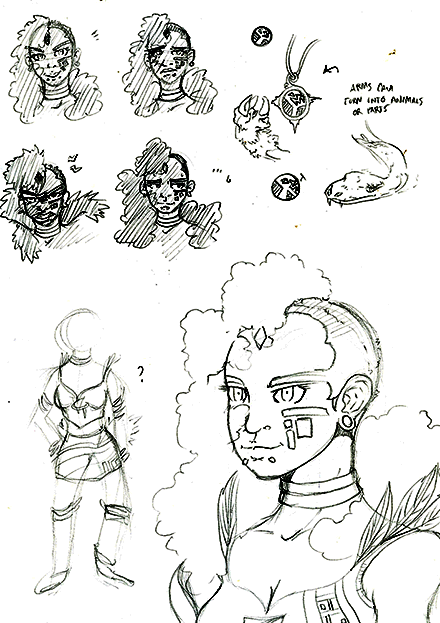 Gunnarr  Game Concept Character Sketch Six