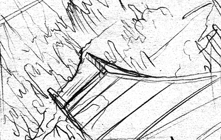 Meteor Falls Concept Sketch Background Thumbnail Two
