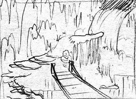 Meteor Falls Concept Sketch Background Thumbnail Three