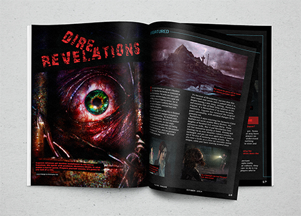 Player 1 Magazine Dire Revelations Article MockUp