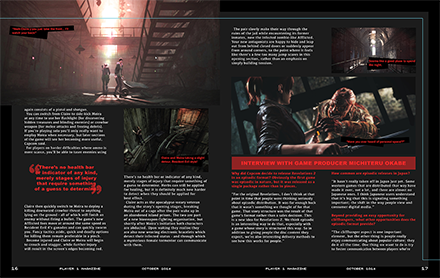 Player 1 Magazine Dire Revelations Article Spread Two